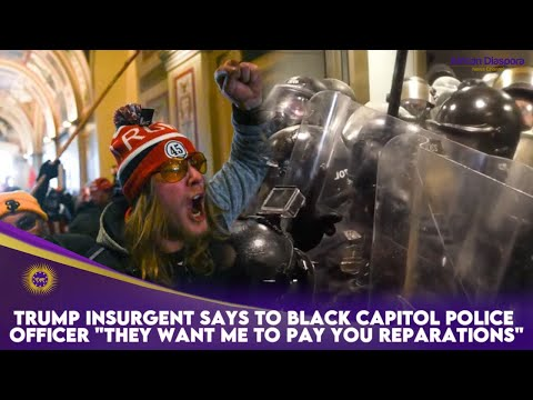 "Trump Insurgent Says To Black Capitol Police Officer ""They Want Me To Pay You Reparations"""