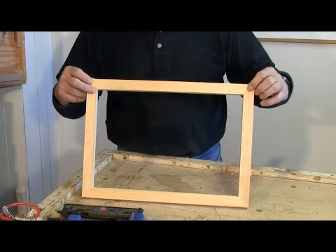making picture frames - Making picture frames with a sliding mitre or chop saw is easy when you know the secrets of frame making and understand how to set up the saw to make perfect...