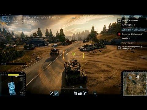 Первый геймплей PVE-миссии Armored Warfare (русская озвучка)