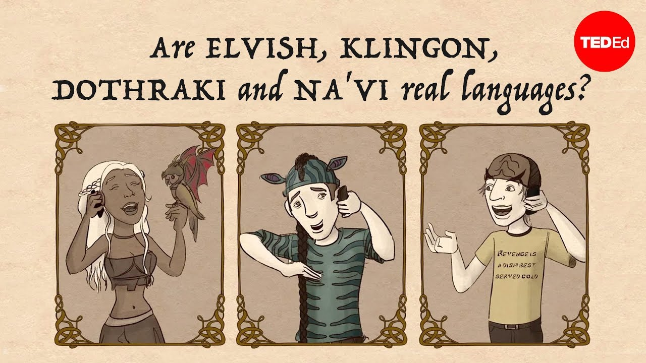 Video: Are Elvish, Klingon, Dothraki and Na'vi real languages?