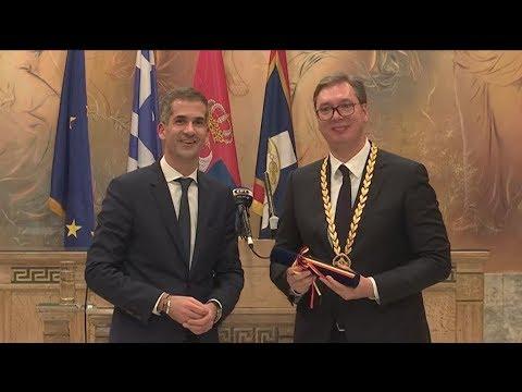 Συνάντηση του Προέδρου της Σερβίας Aleksandar Vučic με τον Κώστα Μπακογιάννη