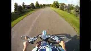 7. Test driving a 2007 Yamaha V-Star 1100 Custom motorcycle