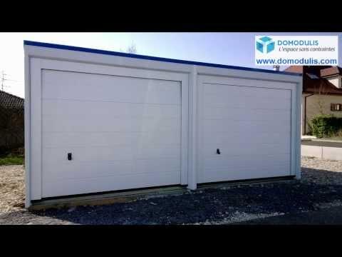 Garage préfabriqué béton : Rhône-Alpes, Sud de la France, garage béton monobloc.