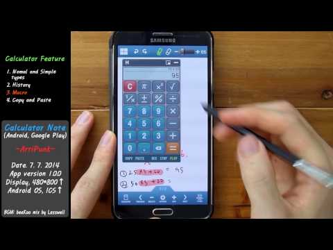 Video of Calculator Note (Quick Memo)