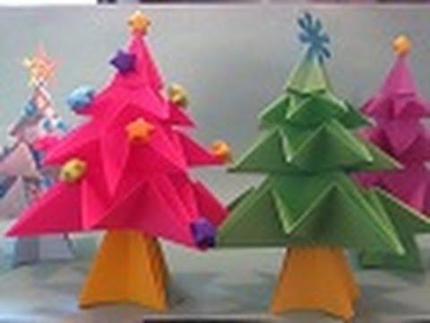 Como hacer Arbolito de NAVIDAD ((Origami))