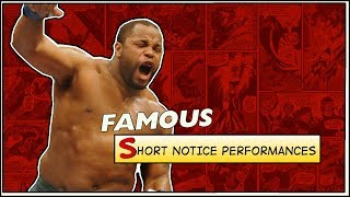 Video Famous Short Notice Performances in MMA MP3, 3GP, MP4, WEBM, AVI, FLV Desember 2018