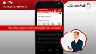 my Secure Mail - email app YouTube video