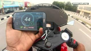 9. Naza Blade GTR 250 / Hyosung GT250R Speedometer Accuracy Test With GPS