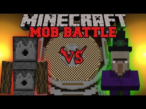 Witch Vs. Arrow Golem - Minecraft Mob Battles