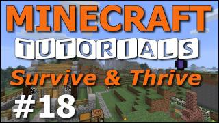 Minecraft Tutorials - E18 Cow and Sheep Farming (Survive and Thrive II)