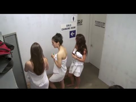 Men in Changing Room Girl s Locker Room Prank
