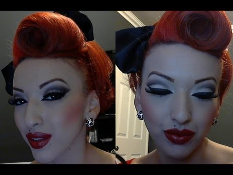 modern pin up - Post pictures of your attempt on www.facebook.com/Pinupdollashleymarierosas This is a lengthy 2 part video on how to do modern Pinup Makeup. The reason it is...
