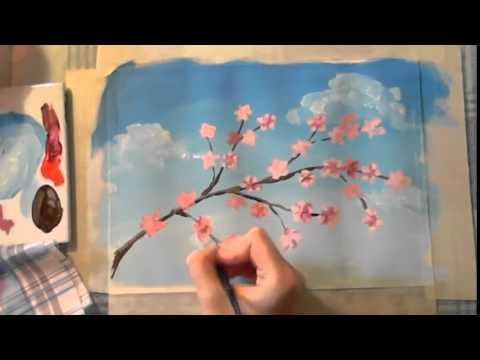 Поэтапный рисунок краской