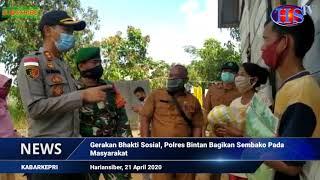 Polres Bintan, Kepri, Bagikan 1000 Paket Sembako