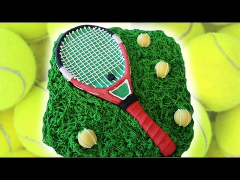 Tennis themed cake: TUTORIAL (subtitulos en Español)