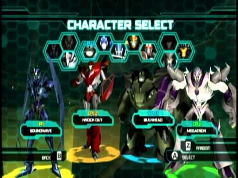 Transformers Prime - Transformers Prime The Game for Nintendo Wii Multiplayer Mode - Emblem Battle.
