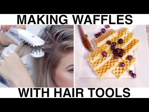 Hairstyles for short hair - Making Waffles with Hair Tools!