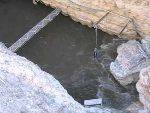 Water recedes at Devils Hole in Nevada after an earthquake. This phenomenon occurs when earthquakes happen as far away as Japan.