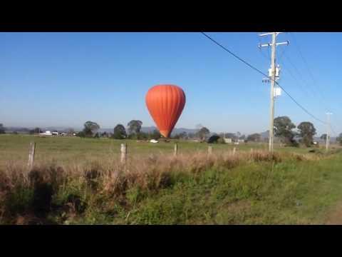 Balloon flight landing outside of Beaudesert.