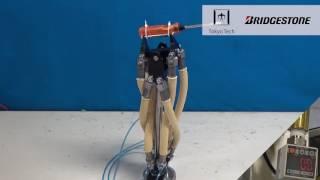東工大とブリヂストン、油圧駆動型の人工筋肉を開発−災害ロボへ応用(動画あり)