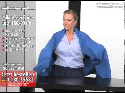 PEARL Mikrofaser-Badetuch 180x90 cm