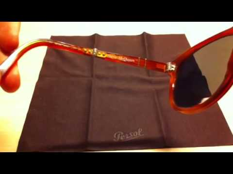 Persol 714 Limited Steve McQueen unboxing + folding mechani