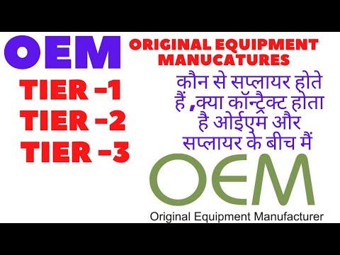 Original Equipment Manufacturer    OEM    TIER -1    TIER -2    TIER -3 SUPPLIERS