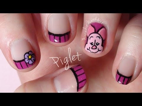 Video Piglet , Winnie The Pooh Nail Art Collaboration