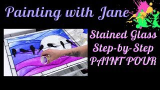 "Bored with paint pouring? Wanna see what else you can use pouring medium for? Come make a faux stained glass window using pouring medium with me! We're thinking outside of the box and doing something totally unique, and it's so much fun!I'm using a 16x20-inch piece of glass and frame, but you can use any size you like.For this project, you'll need:• Some kind of a bottle with a tip to squeeze the gel into lines• Liquitex Gloss Super Heavy Gel (or Liquitex Gloss Heavy Gel)• Palette knives• Liquitex Pouring Medium• Large plastic cups for mixing medium• Small paper cups for pouring medium• A soft flat brush (I used a filbert, about 1/2-inch, but that doesn't really matter)• Patience• Time (this project may take you a couple of days)• **Optional** An image template. You can download the three I have for you here: http://www.paintingwithjane.com/tracing Or you could do something totally different!• **Also Optional** Liquitex Glass Bead GelI'm using Liquitex Basics acrylic paint in the following colors:• Mars Black• Titanium White• Deep Violet• Dioxazine Purple• Phthalocyanine BlueBut you can use any colors you like.Check out my Patreon page! Become a patron and get some awesome rewards. http://bit.ly/29OV2VIGrab a set of my paint brushes, Art Monster swag, my original paintings, and sign up for my mailing list on my website at www.paintingwithjane.com or http://bit.ly/2esWni7Find me on Facebook here: http://bit.ly/28XweuxInstagram here: http://bit.ly/2jnykTTTwitter here: http://bit.ly/2icHNj7Notice: No part of this video may be reproduced or distributed without written permission from me. The painting demonstrated is owned by the artist and Pandemonium Art Gallery, and may not be reproduced except by individuals for the purpose of learning these techniques. This tutorial and painting presented are not available for commercial purposes and may not be duplicated to be used for classes or commercial sale without written permission from me. The artwork contained in this video © 2017 by Jane Font All Rights Reserved""Garden Music"" Kevin MacLeod (incompetech.com)Licensed under Creative Commons: By Attribution 3.0 Licensehttp://creativecommons.org/licenses/by/3.0/ Thanks for watching!"