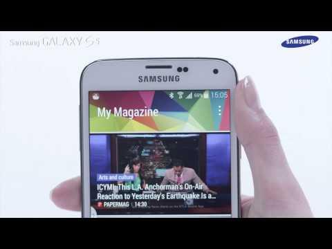 Samsung GALAXY S5 - jak korzystać z funkcji ekranu głównego