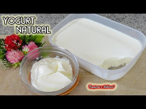 YOGURT NATURAL Con Sólo 2 Ingredientes, Saludable Y Súper Fácil
