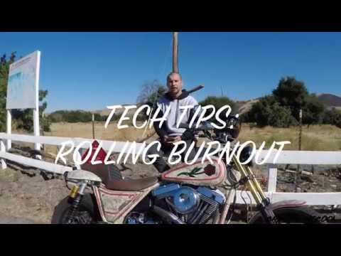 HOW-TO ROLLING BURNOUT ON YOUR HARLEY DAVIDSON!