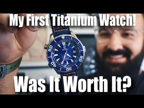 My First Titanium Watch!  Was It Worth It  (Ocean Crawler Navigator Review)
