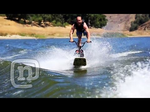 Wakeboard - In this episode of Getting Awesome With Ryan Nyquist, Ryan teams up with brother Shea Nyquist to create a hybrid wakeboard/BMX bike. The challenges are many,...