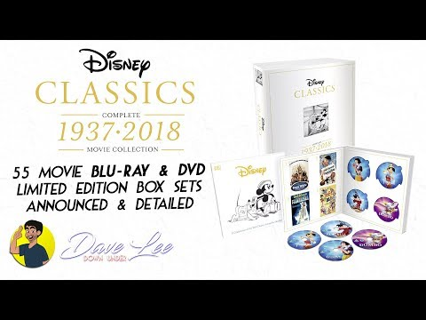 DISNEY CLASSICS - COMPLETE 55 MOVIE COLLECTION Blu-ray, DVD Box Set Announced & Detailed