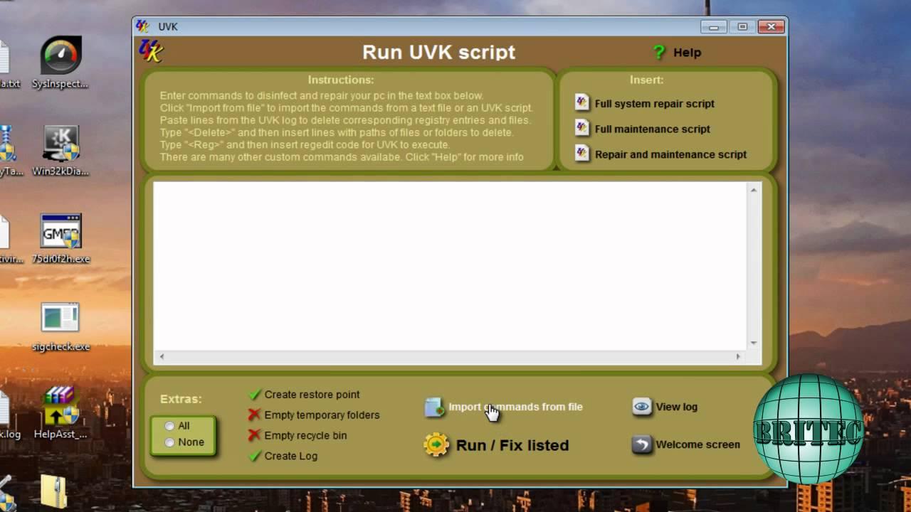 UVK – Ultra Virus Killer – Powerful Virus Removal & System Repair Tool by Britec