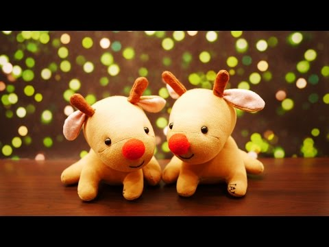 Little Rudolph Sock Plush Tutorial - DIY Red Nose Reindeer for Christmas!
