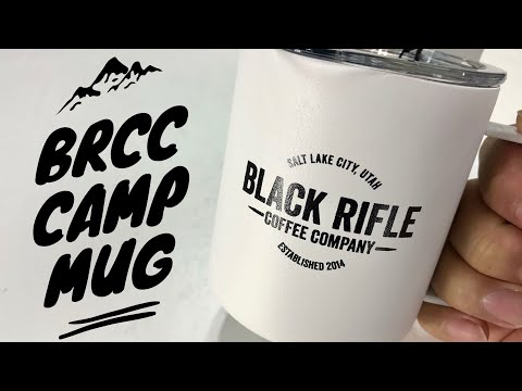 Thermo Insulated Metal Camp Mug in White with Vintage Logo by Black Rifle Coffee Company Review