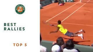 Video Top 5 Best Rallies - Roland-Garros MP3, 3GP, MP4, WEBM, AVI, FLV September 2017