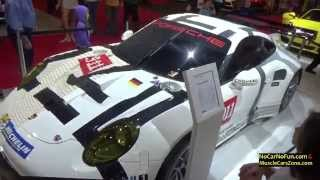 FULL INFO at http://www.nocarnofun.com/2016 Porsche 911 RSR 50% Constructed from LEGO  at 2015 Miami Motor Show