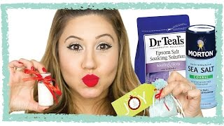 How To Make Bath Salts - The Perfect Stocking Stuffer! - YouTube