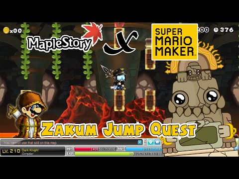 Super Mario Maker! MapleStory Map: Breath Of Lava! (Zakum Jump Quest)