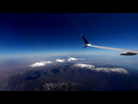 Flying into Los Angeles / San Bernardino Ntnl. Forest & Mountains (видео)