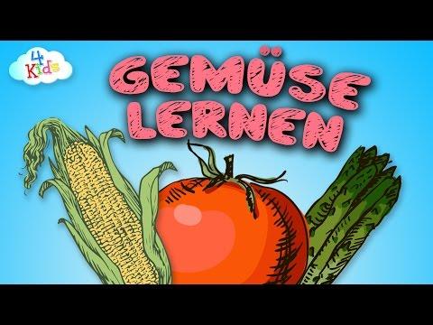 Gemüse Lernvideo für Kinder und Kleinkinder. Lebensmittel - Gemüsesorten lernen (deutsch) (видео)