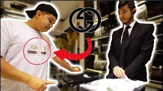 Video WEARING FAKE GUCCI TO THE GUCCI STORE!! (PART 2) MP3, 3GP, MP4, WEBM, AVI, FLV Mei 2018