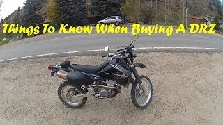 1. Things To Know When Buying A DR-Z400S