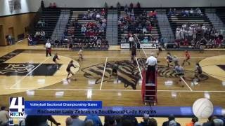 Sectional Volleyball Rochester vs Southwood