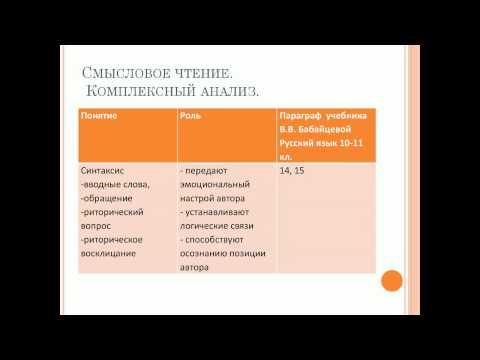 На пути к сочинению: от художественного текста к авторскому замыслу (по УМК Бабайцевой 10, 11 классы)