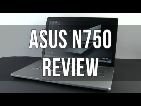 ASUS N750 / N750JV review: powerful multimedia laptop