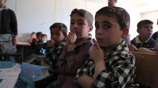 <h5>Her Highness visiting Al Zaatri refugee Camp in Jordan</h5>